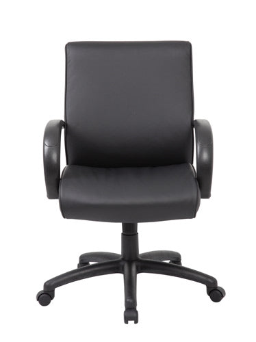 Boss Mid Back Executive Chair / Black Finish / Black Upholstery B7716-BK