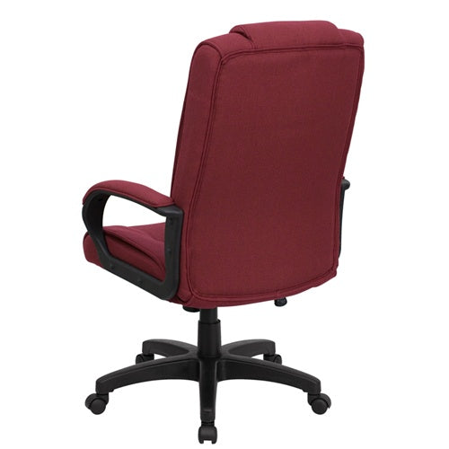 High Back Burgundy Fabric Executive Office Chair by Flash Furniture