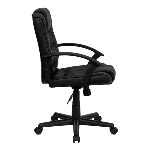 Mid-Back Black Leather Office Chair by Flash Furniture