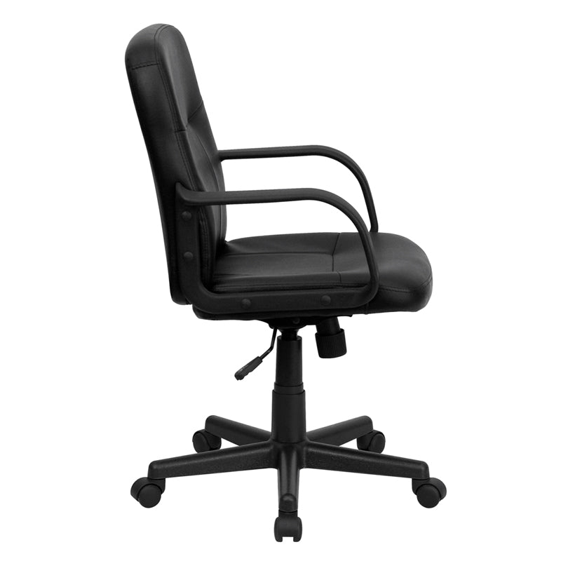 Black Mid-Back Vinyl Chair