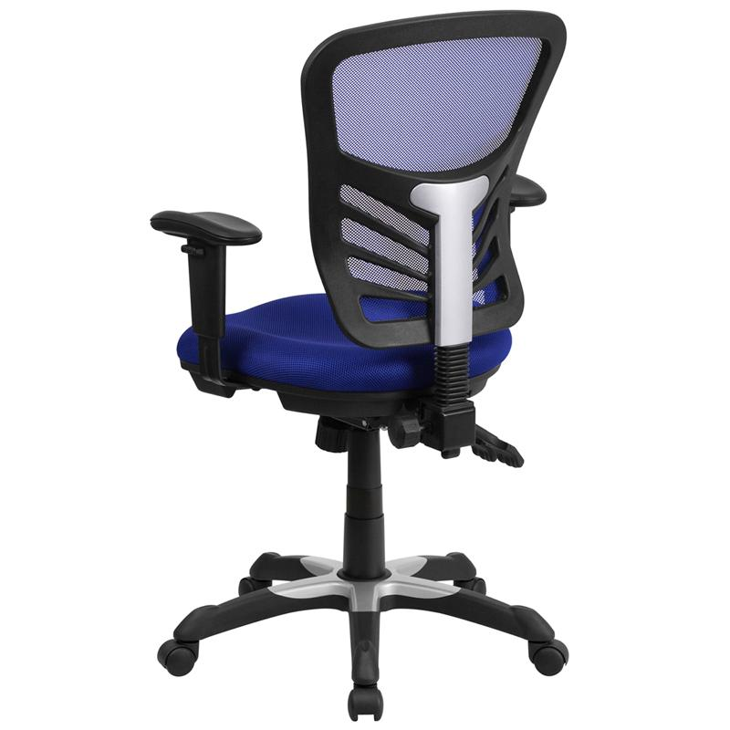 Blue Mid-Back Mesh Chair