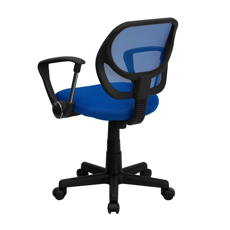 Blue Low Back Task Chair