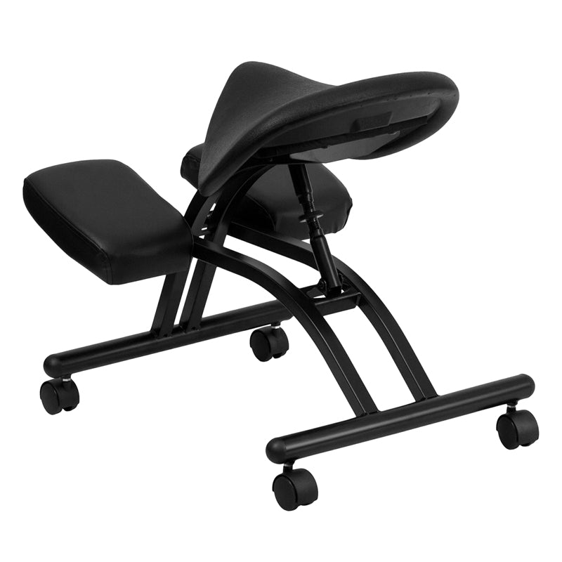 Black Saddle Kneeler Chair