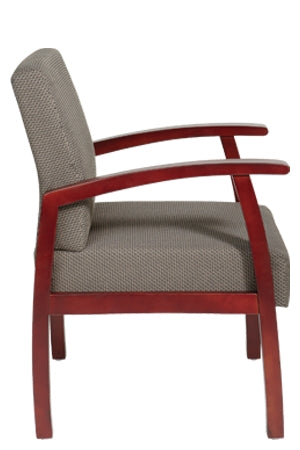 Deluxe Cherry Finish Guest Chair by Office Star