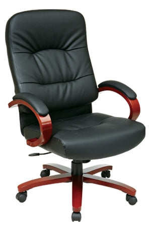 Leather High Back Chair by Office Star