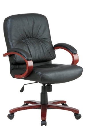 Leather Mid Back Chair by Office Star