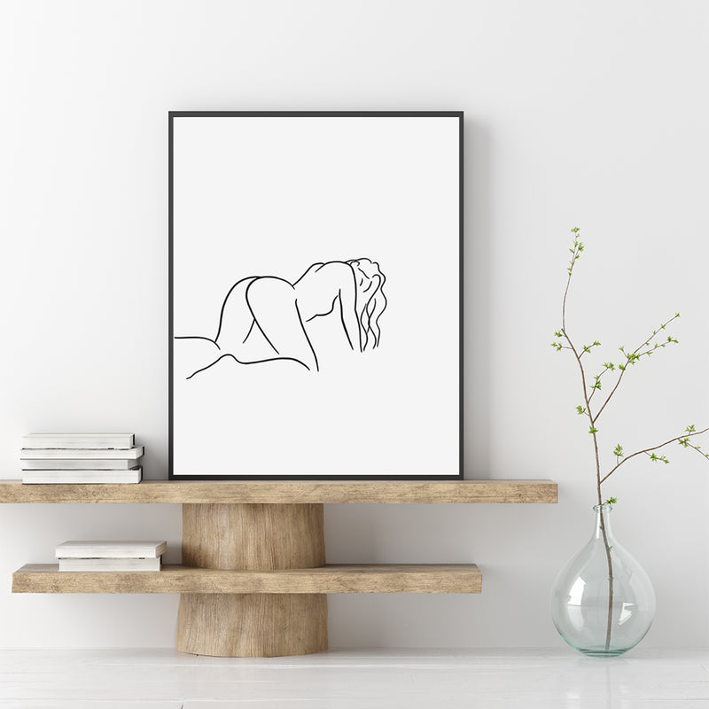 'Good Girl' Print - White