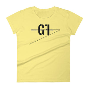 Women's short sleeve t-shirt - GoldFingerprints