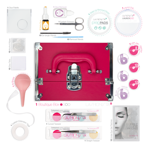 pink eyelash extension kit - Lashionista Pro™