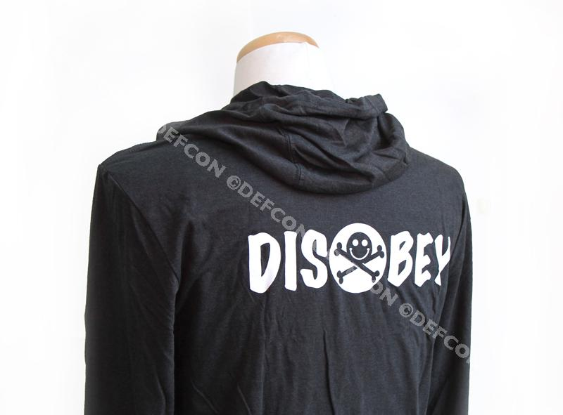 DEF CON 26 DISOBEY District Made DM139 long sleeve hoodie