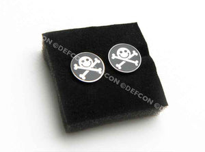 DEF CON Pirate earrings