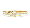 14K Gold Diamond Bangle
