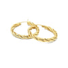 14K Twisted Hoops