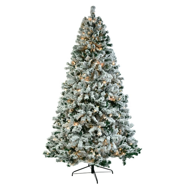 Nortic 7.5Ft flocked christmas tree with lights