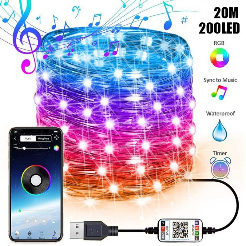 Christmas lights RGB Color Bluetooth