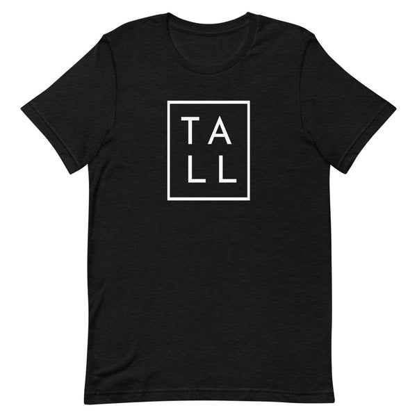 "Block ""TALL"" graphic tee in Black Heather."