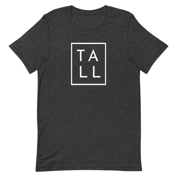 "Block ""TALL"" graphic tee in Dark Grey Heather."