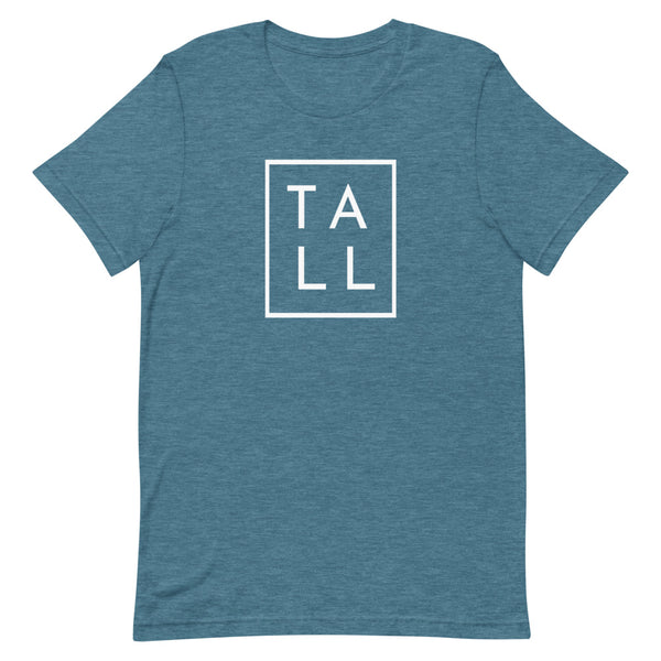 "Block ""TALL"" graphic tee in Deep Teal Heather."