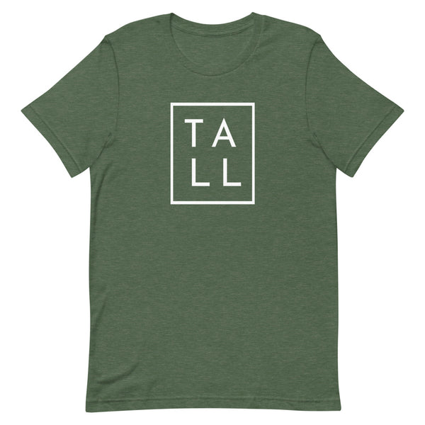 "Block ""TALL"" graphic tee in Forest Heather."