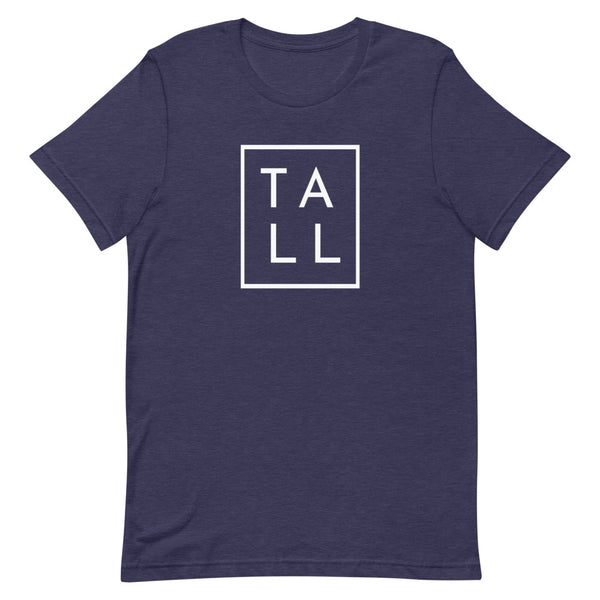 "Block ""TALL"" graphic tee in Midnight Navy Heather."