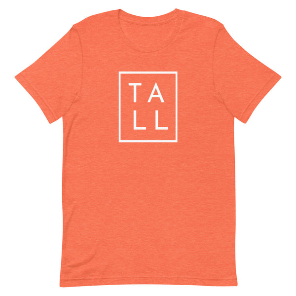 "Block ""TALL"" graphic tee in Orange Heather."