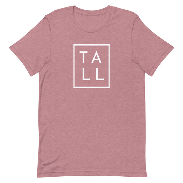 "Block ""TALL"" graphic tee in Orchid Heather."