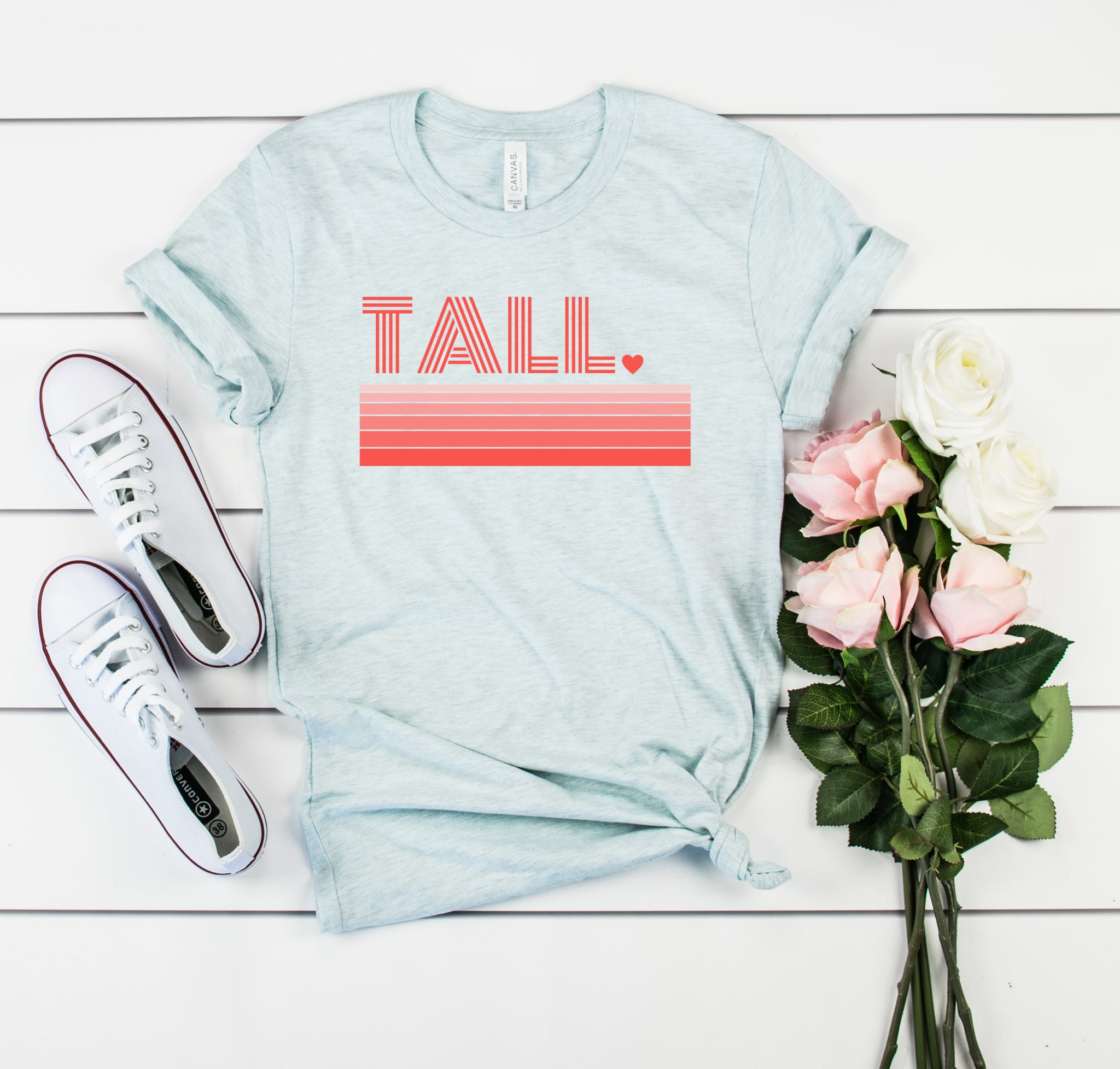 Bella Canvas 3001 Tall Love graphic tee