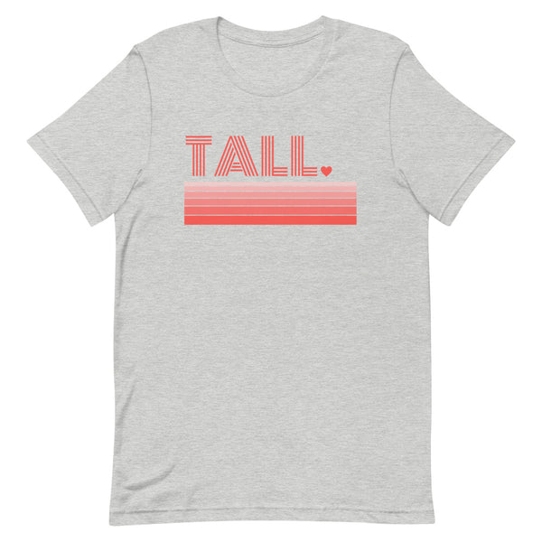 """Tall Love"" premium graphic t-shirt in athletic gray heather."