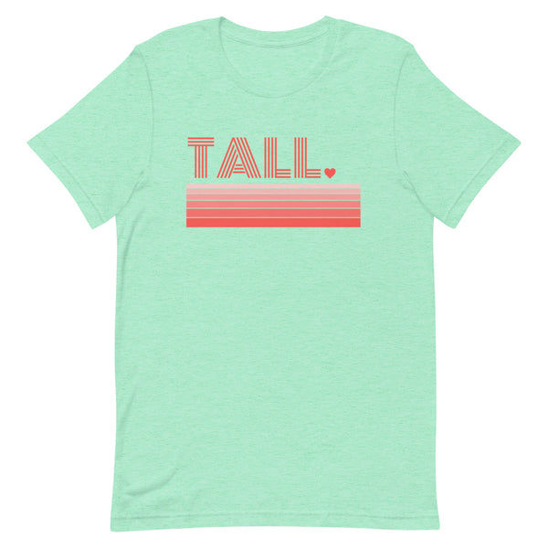 """Tall Love"" premium graphic t-shirt in mint heather."