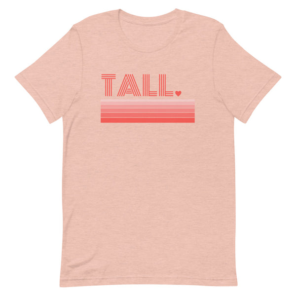 """Tall Love"" premium graphic t-shirt in peach heather prism."