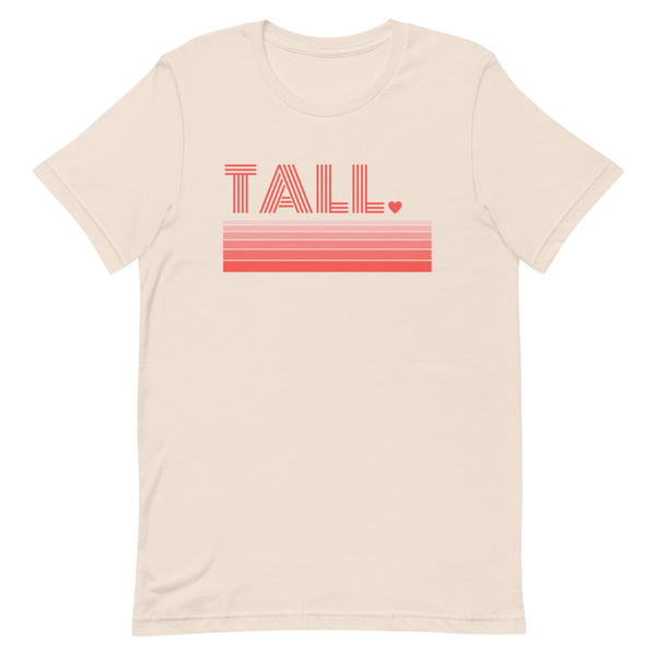 """Tall Love"" premium graphic t-shirt in soft cream."