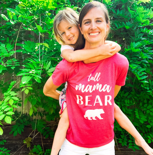 Mama bear t-shirt for tall mothers.