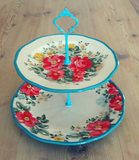 PIONEER WOMAN COLLECTION CAKE STAND 2-TIER #003