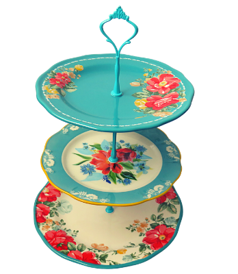 PIONEER WOMAN COLLECTION CAKE STAND 3-TIERED #001