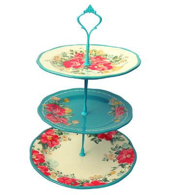 PIONEER WOMAN COLLECTION CAKE STAND 3-TIERED #002