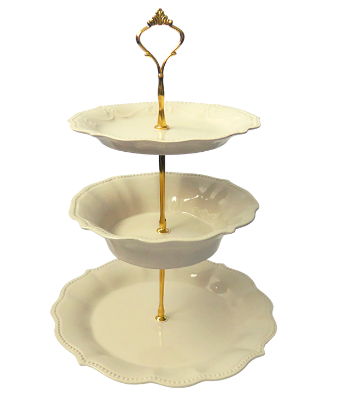 PIONEER WOMAN COLLECTION CAKE STAND 3-TIERED #005
