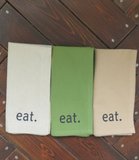 Cotton Imprinted Napkins: eat.