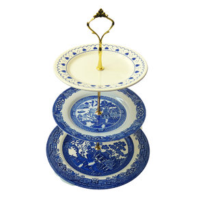 BLUE CAKE STAND #407