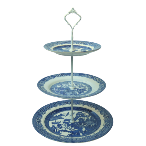 BLUE CAKE STAND #412