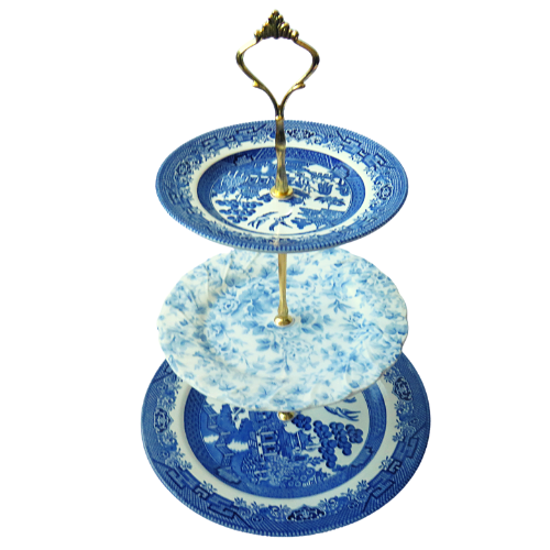 BLUE CAKE STAND #415