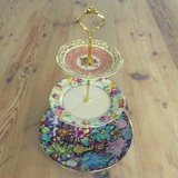 PINK & BLACK CAKE STAND #613