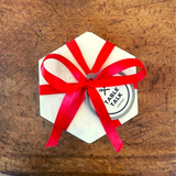 Trendy Marble Hexagon Coasters - Choice of Ribbon Colour