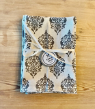 Cotton Printed Napkins Gray/Natural Variety Set