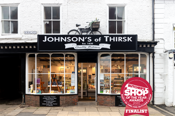 Johnson's of Thirsk chosen as Finalists for Butcher's Shop of the Year 2020