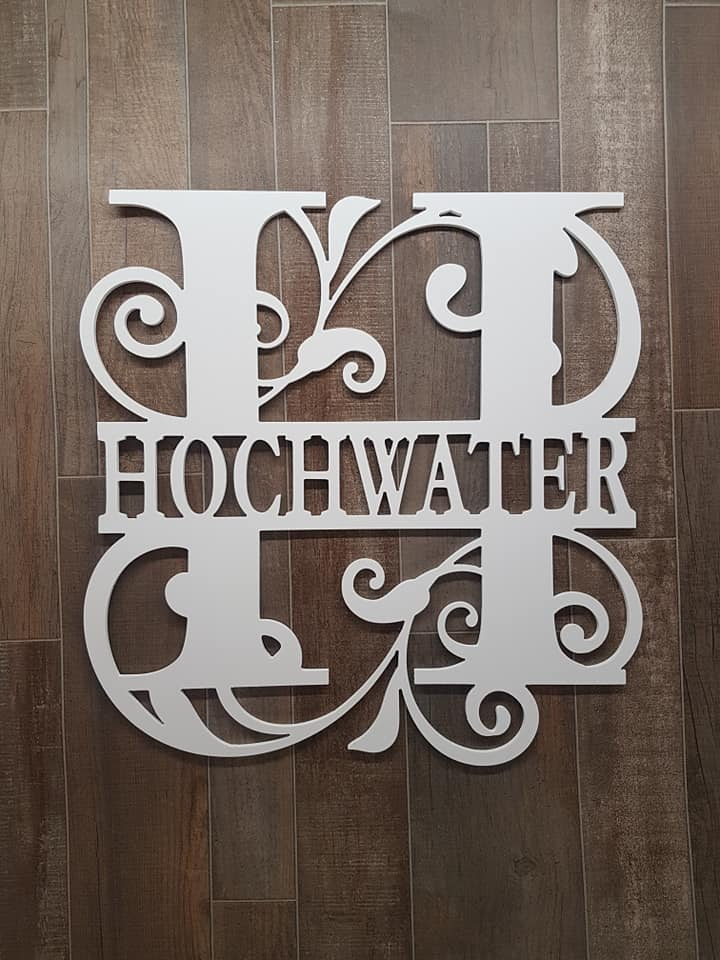 Wooden Initial Wood Sign