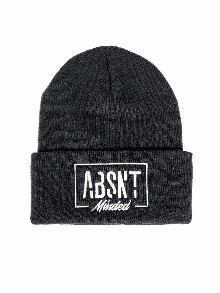 Absnt Minded black beanie