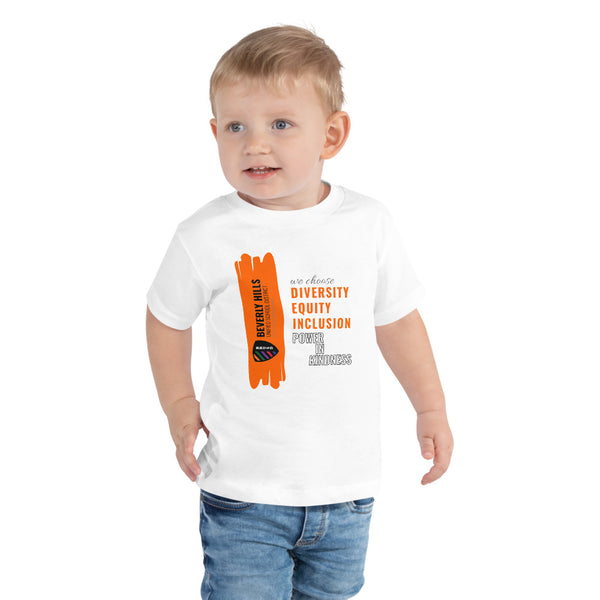 White Toddler Short Sleeve Tee - National Bullying Prevention Month and Unity Day