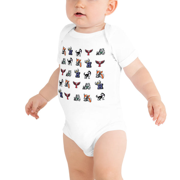 BHUSD Mascot Front and Back Onesie - The Future of Beverly Hills