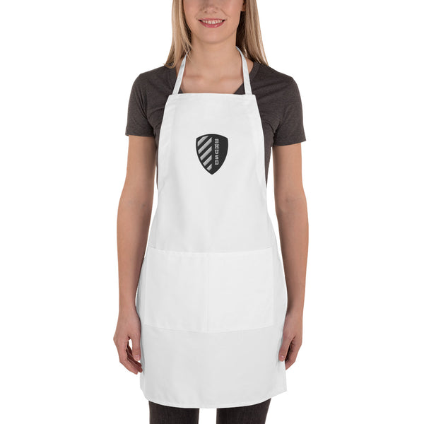BHUSD White Embroidered Apron