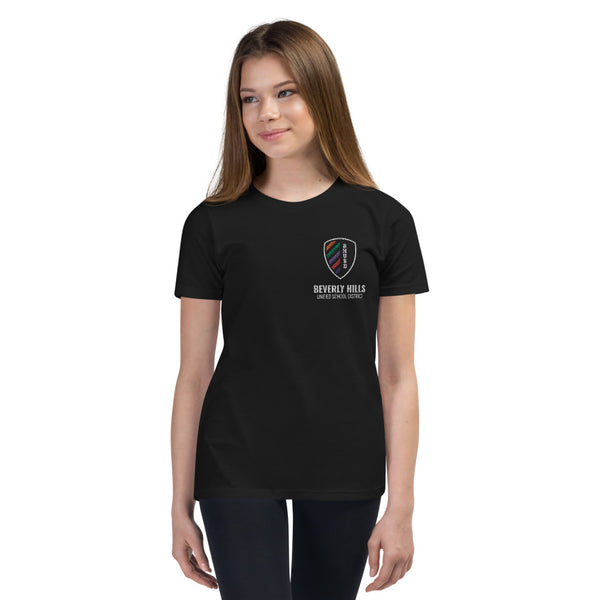 BHUSD Sm Logo Black Youth Short Sleeve T-Shirt